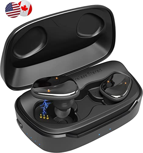 New – 2019 Updated Wavebud Quasar WB-QSD06, TWS Bluetooth 5.0 True Wireless Stereo Earbuds Headphones, Waterproof, HD Bass 5 Sound Settings , Sport FIT , Mic, 90-100Hr use, Power Bank Feature