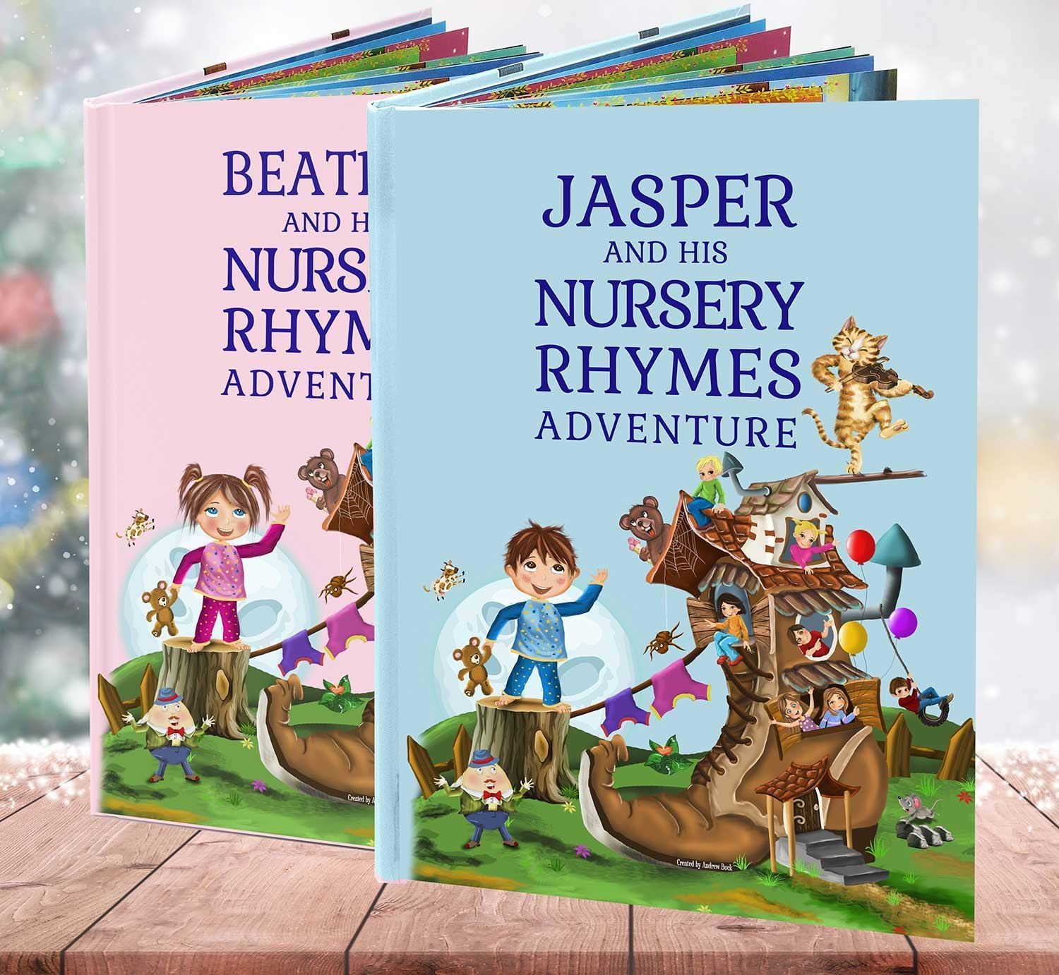 Baby Birthday Gift, A Personalised Nursery Rhymes and Modern Poems Book for Baby and Child - Handmade - Unique Keepsake Gift