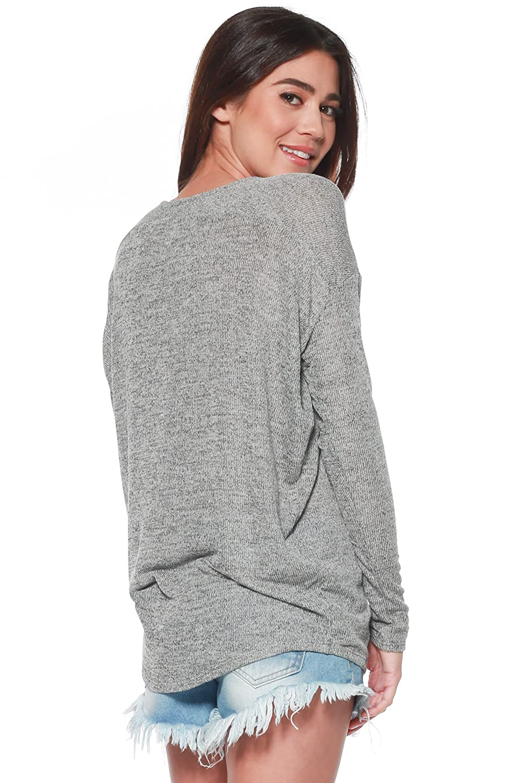 Thin Lightweight Loose Pullover Top David Womens Long Sleeve Dolman Knit Batwing Long Sleeve Blouse Alexander