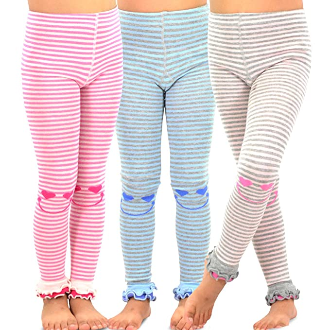 57d5a0e5a76c8 TeeHee Kids Girls Fashion Cotton Leggings(Footless Tights) 3 Pair Pack (3-