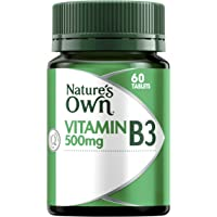 Nature's Own Vitamin B3 500mg - Assists in Metabolism - Supports Healthy Skin - Good for Pregnancy & Lactation