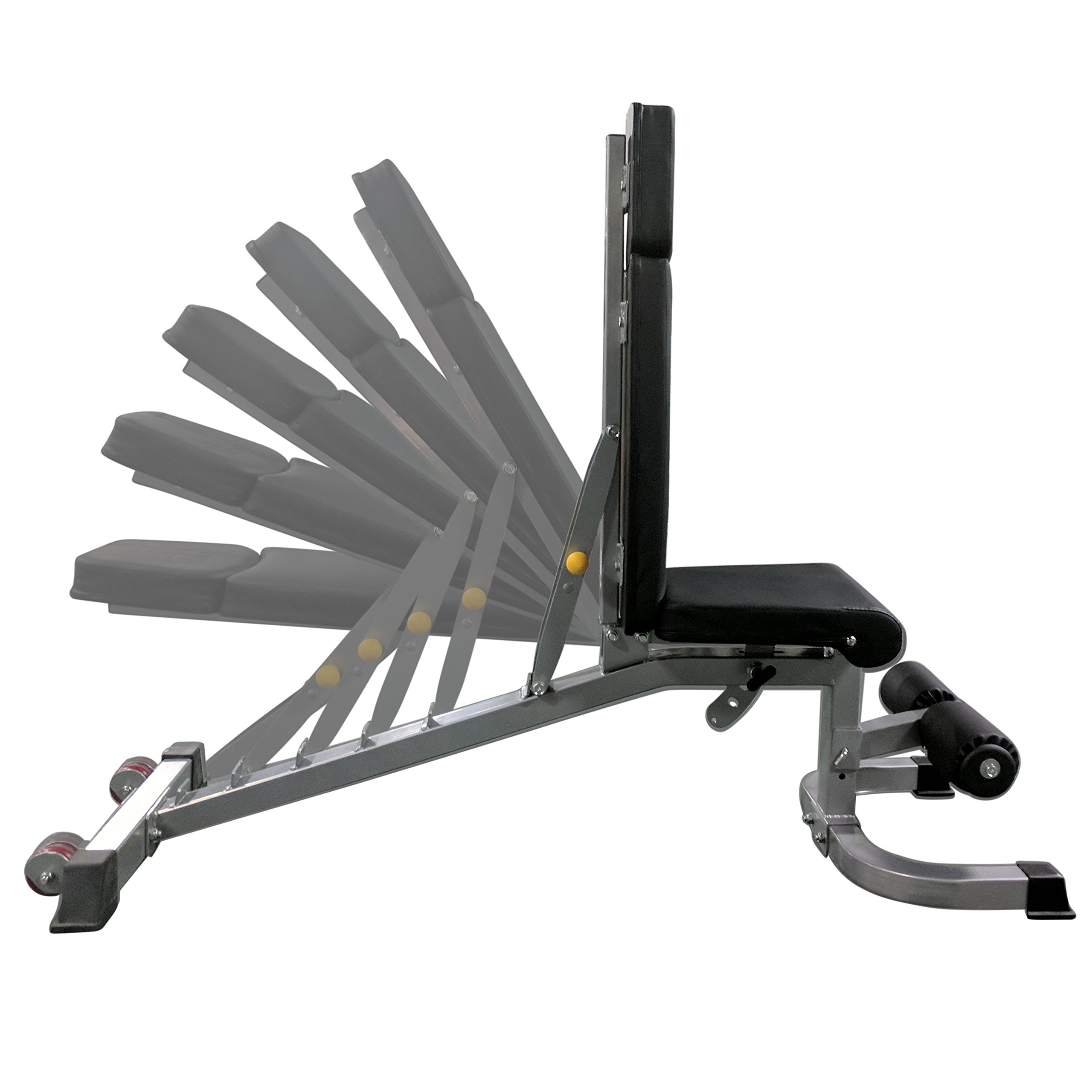 Titan Adjustable Weight Bench - 1000 LB Capacity - Incline Decline Flat by Titan Fitness (Image #4)