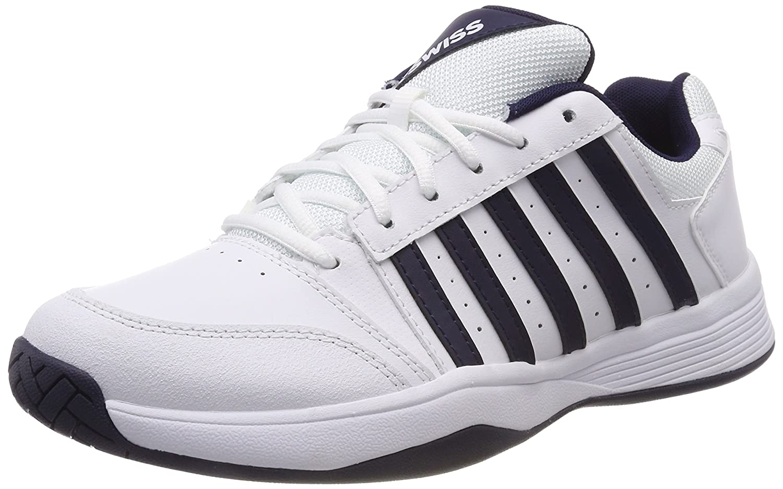 Blanc (blanc Navy 109-m) K-Swiss Perforhommece Court Smash, Chaussures de Tennis Homme 47 EU