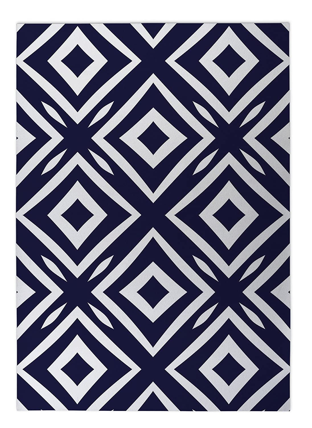 - ENCOMPASS Collection KAVKA Designs Square Peg Indoor-Outdoor Floor Mat, Size: 24x36x0.2 - TELAVC010FM23 Blue//White
