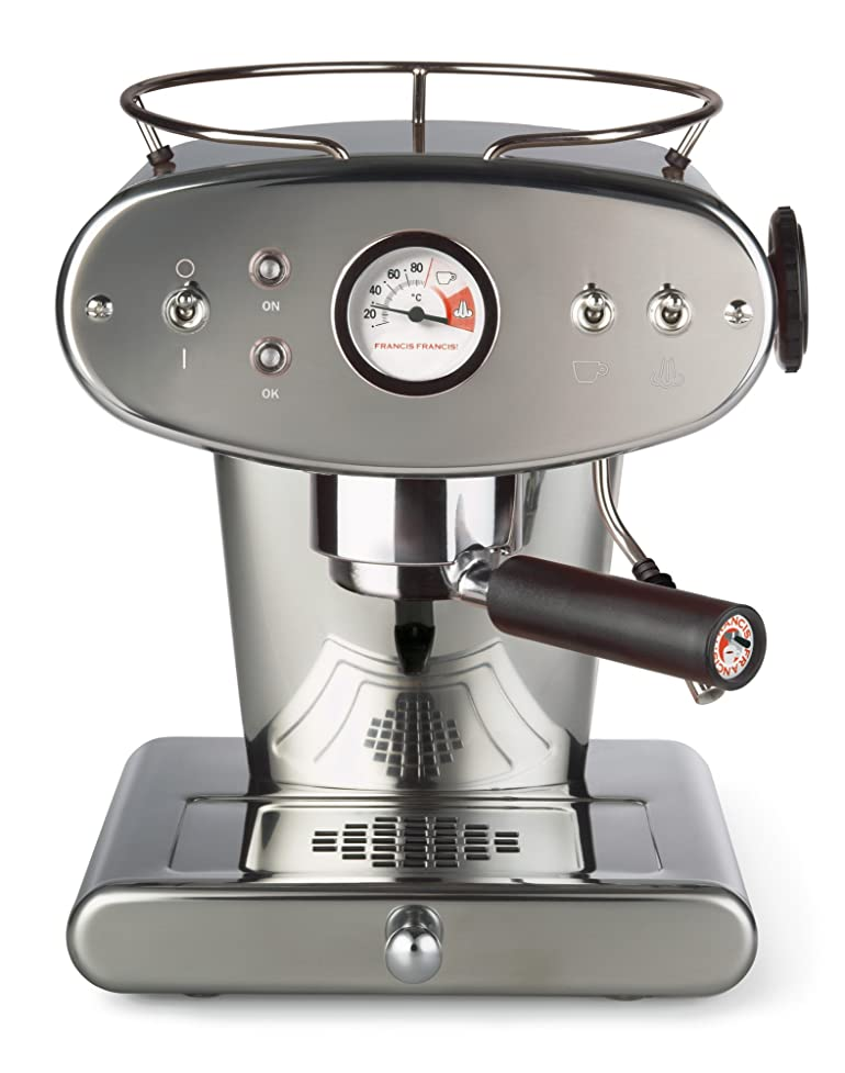 Francis Francis X1 Ground Coffee Machine, Stainless Steel: Amazon ...