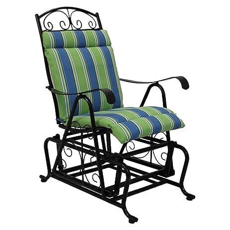 Superior Blazing Needles Outdoor Chair Seat And Back Cushion, Freeport Ebony
