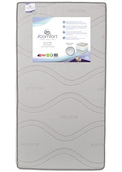 Com Serta Icomfort Dawn Mist Firm Memory Foam Crib And Toddler Mattress Waterproof Greenguard Gold Certified Natural Non Toxic Baby