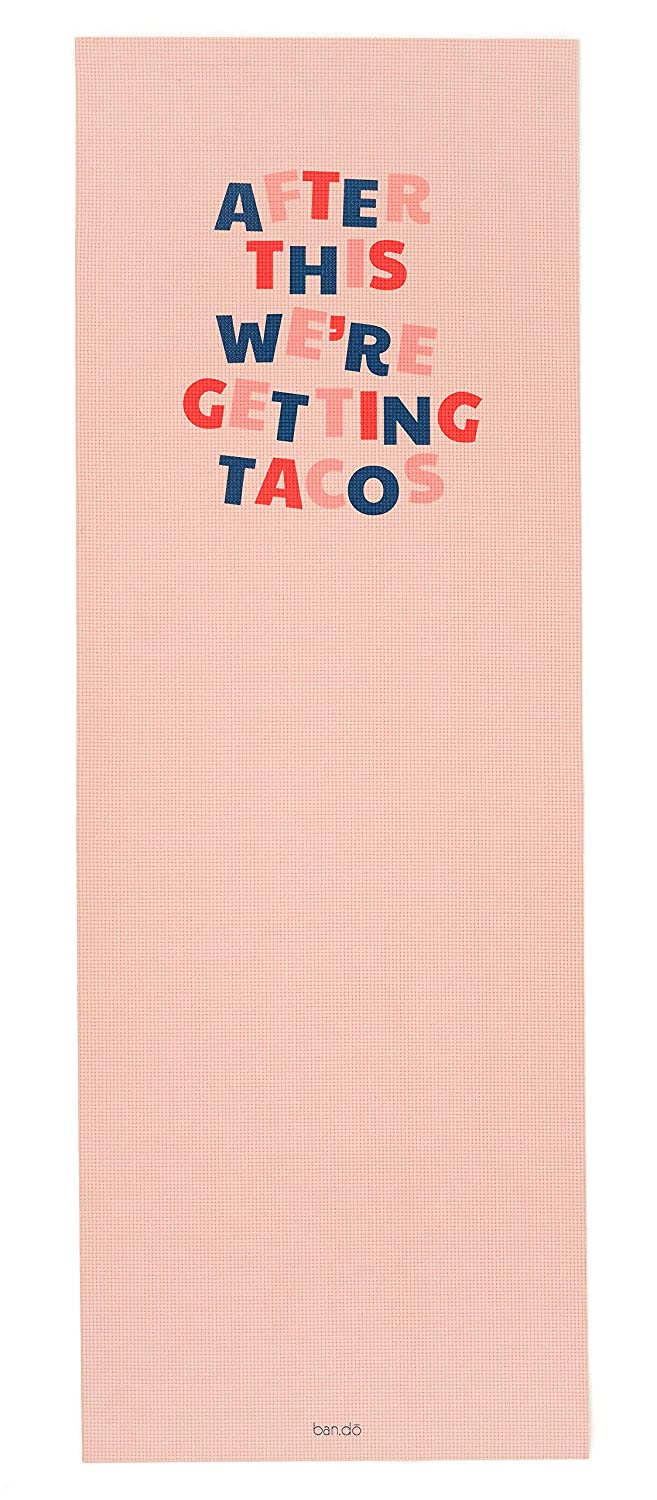 ban.do Womens Work it Out Exercise Yoga Mat, 1/2-Inch Thick