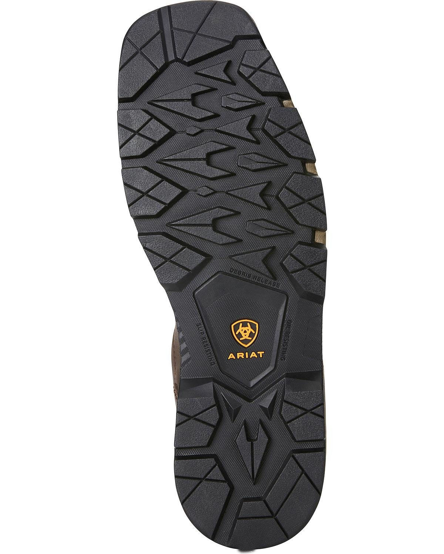 Ariat Men's Rebar Flex H2o Western Work Boot Composite Toe Brown 7.5 EE by Ariat (Image #5)