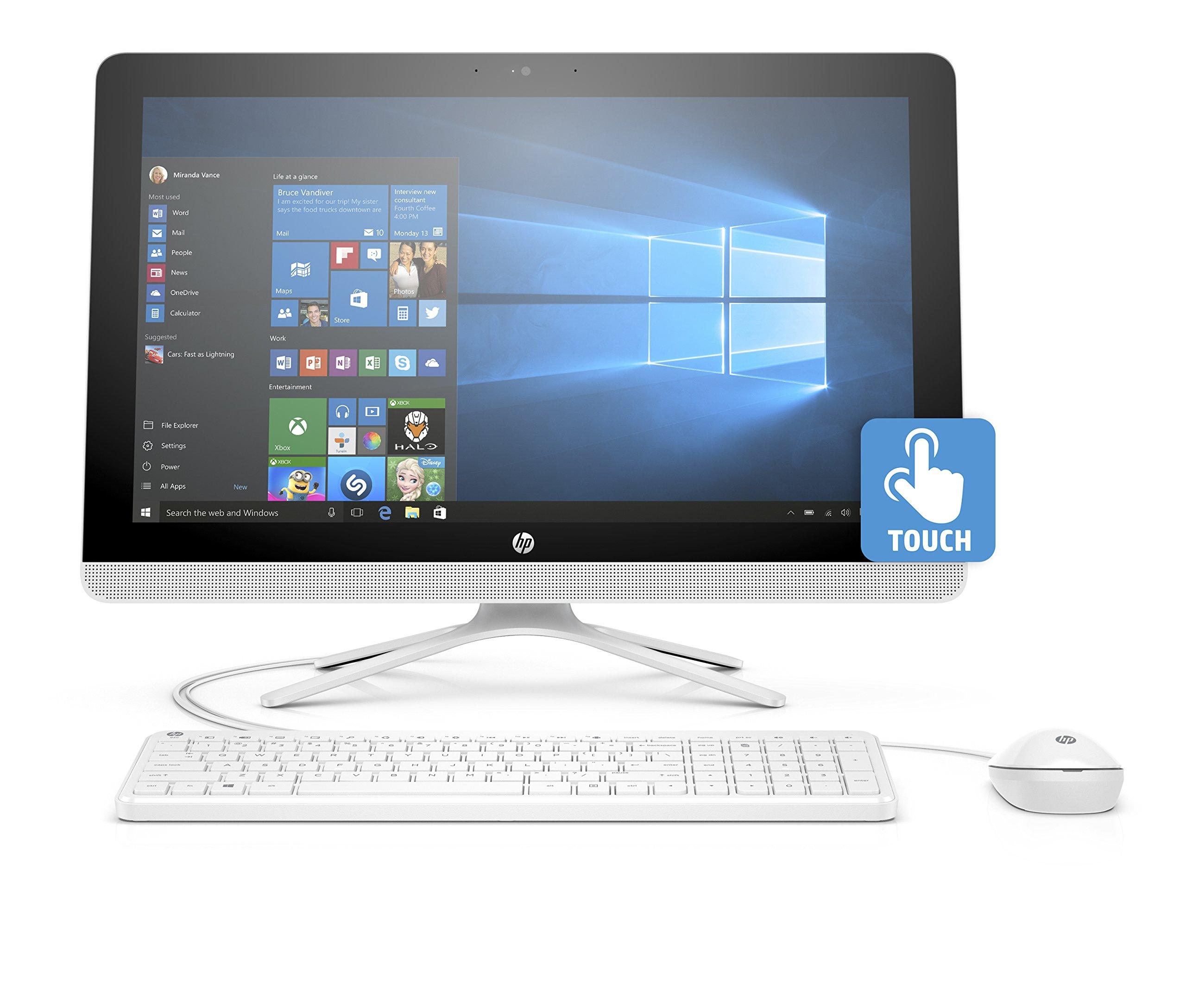 HP 24-g020 23.8'' All-In-One Desktop (AMD A8-7410, 8GB RAM, 1 TB HDD, Windows 10 Home) by HP