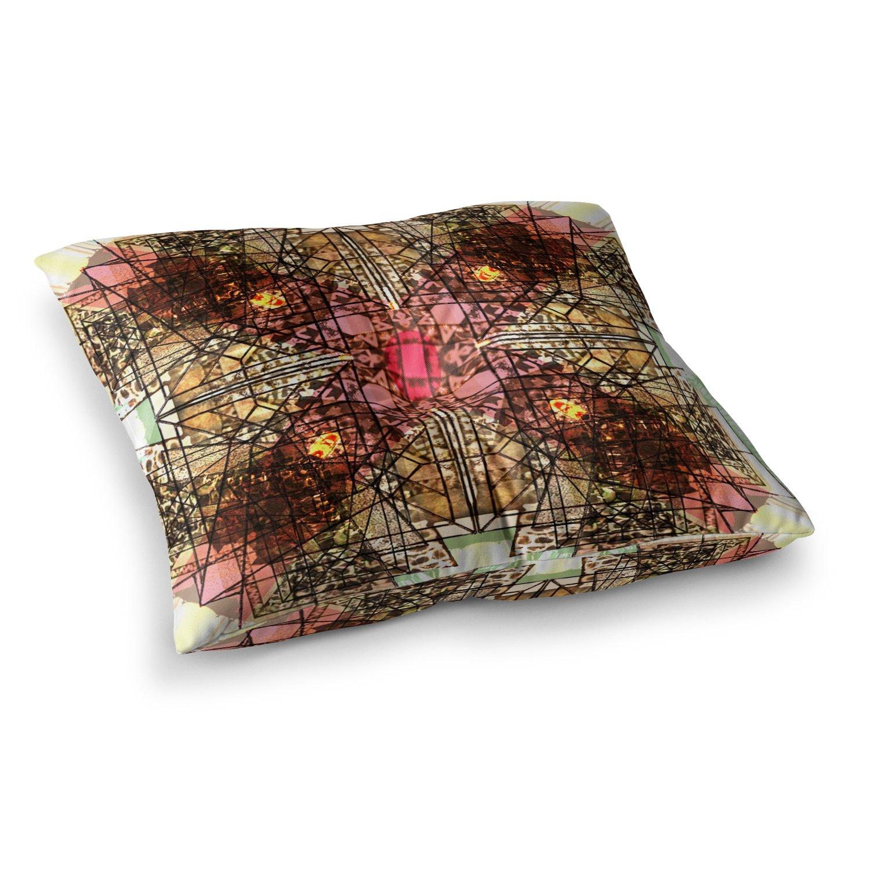 Kess InHouse Danii Pollehn Achat II Multicolor 23 x 23 Square Floor Pillow