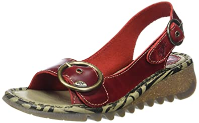 0b4736f120e9 FLY London TRAM723FLY Womens Sandal Red UK2 EU35 US5