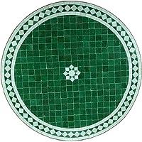 """Mesa de jardín mediterránea   Mosaico marroquí """"Blanco"""