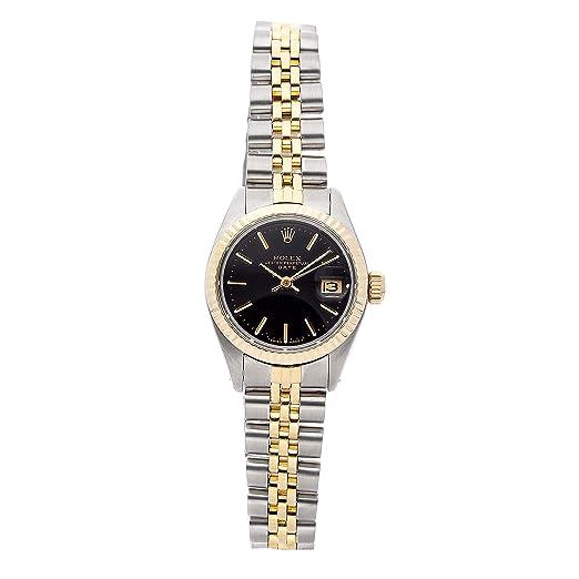Rolex Oyster 6917 Reloj mecánico perpetuo (automático), Esfera Negra, para Mujer (