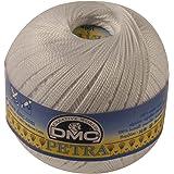 DMC Petra Yarn, 100 Percent Cotton, White, Size 5