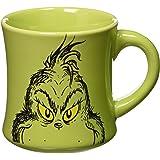 Vandor 17661 Dr. Seuss Grinch Holiday 12 oz Ceramic Mug, Green