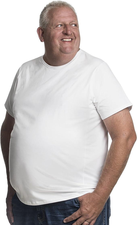 8xl T-Shirt Hommes Manches Courtes Col Rond Shirts Coton Grande Taille 3xl