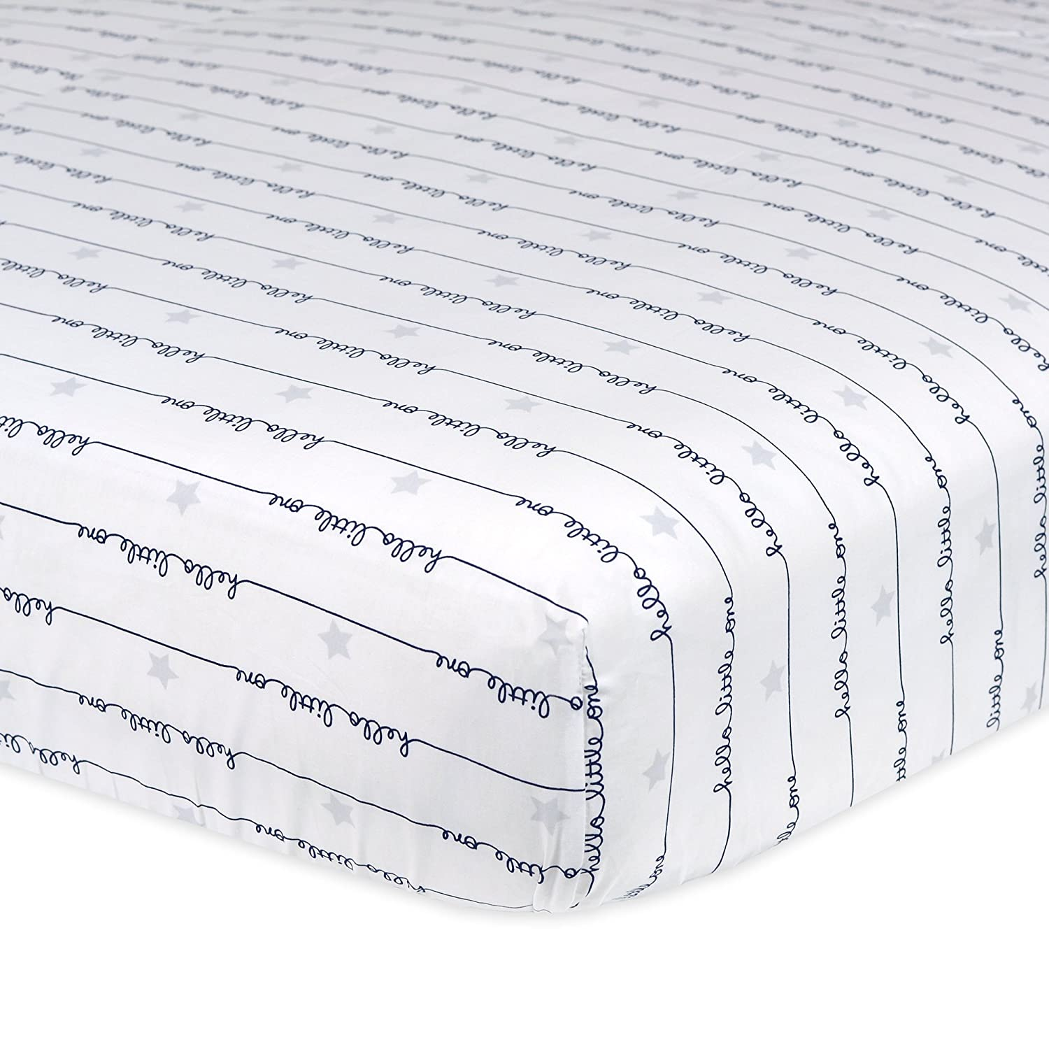 Gray Dots Gerber 100/% Cotton Fitted Crib Sheet