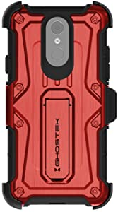 Ghostek Iron Armor Military Grade Case with Kickstand Designed for LG Q7 / Q7+ Plus – Red