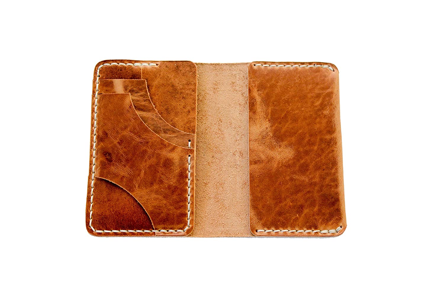 Luxury Hand-Made Leather Wallet by Rose Anvil Slim Front Pocket Wallet Genuine Leather The Ambrose