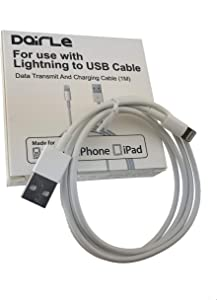 iPhone Charger, Apple MFi Certified Lightning Cable (6FT),Made for iPhone X / 8/8 Plus / 7/7 Plus / 6/6 Plus / 5S (White)