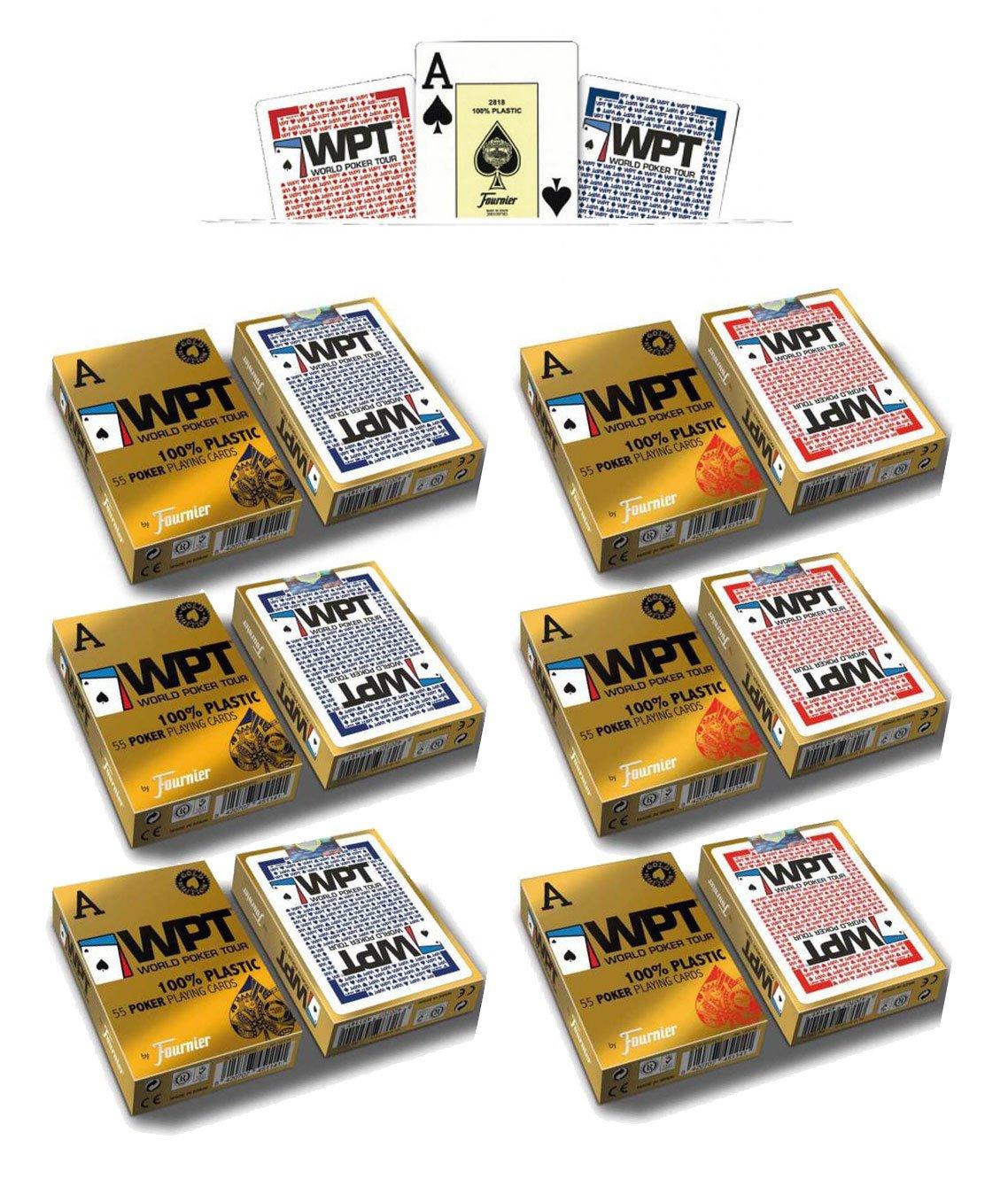 Outletdelocio. Pack 6 barajas Fournier Poker World Tour WPT ...