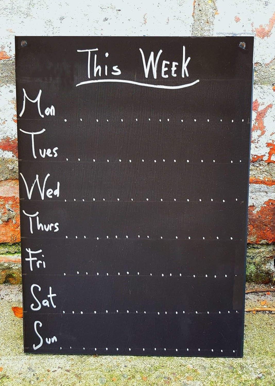 Shabby Chic Weekly Planner A3 Chalkboard Ornate Design 42cm x 30cm Blackboard