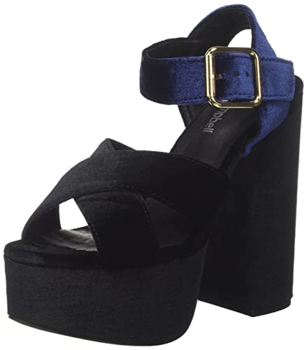 16f021, Sandales Plateforme Femme, Noir (Velvet Black), 40 EUJeffrey Campbell