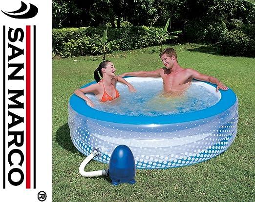 Bestway 8320110 Piscina Relax Masaje con hidrobomba Ø196x53 cm.: Amazon.es: Jardín