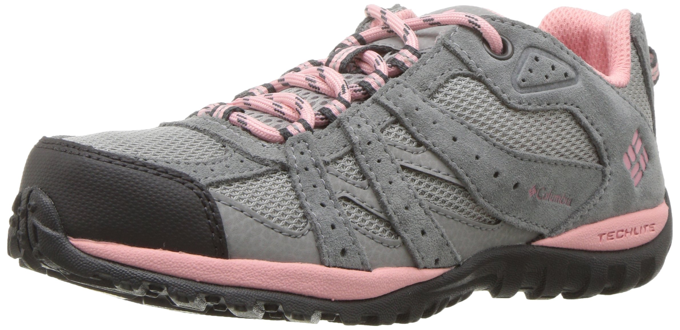 Columbia Unisex Youth Redmond Hiking Boot Steam, Rosewater 1 M US Little Kid