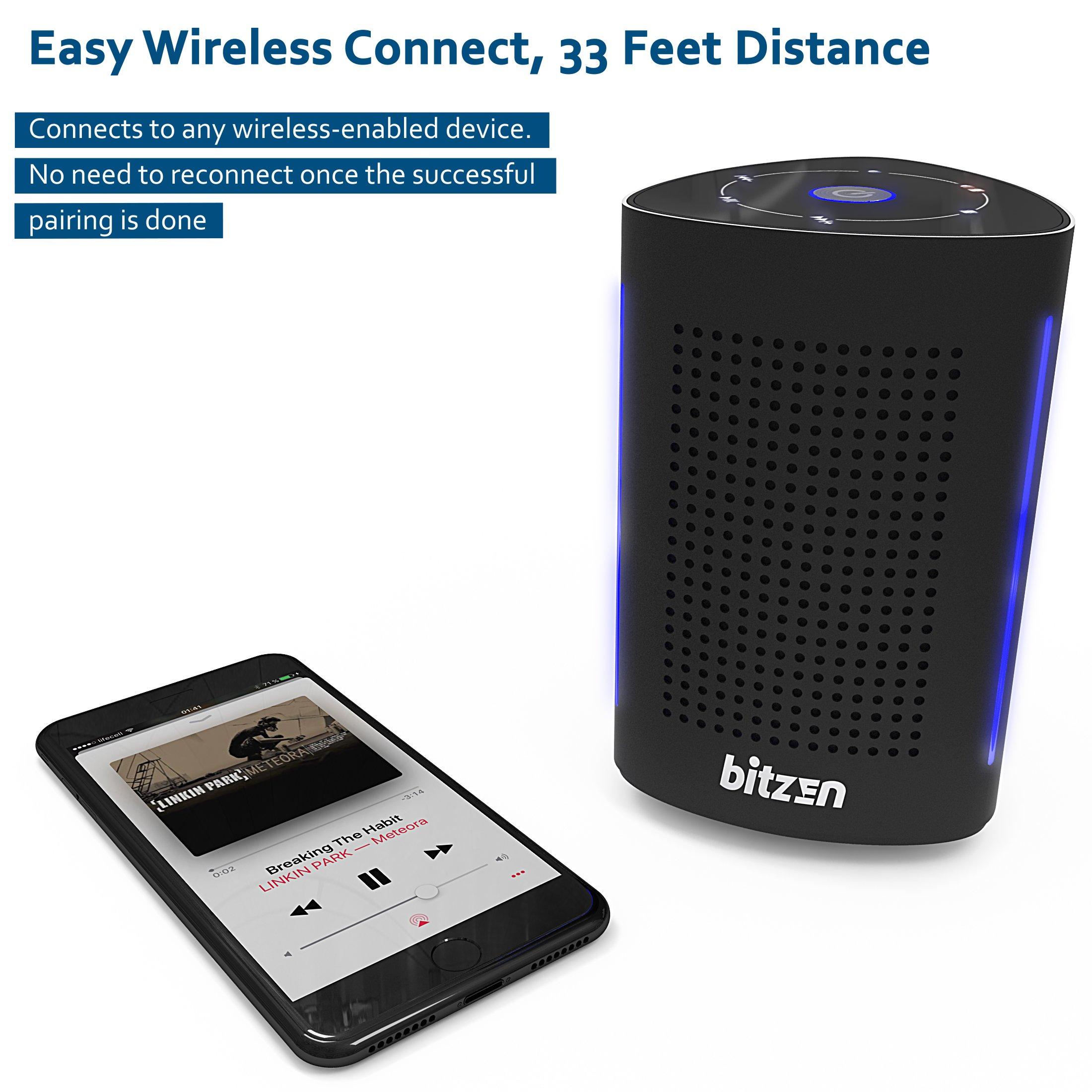 Bluetooth Computer Speaker – Wireless Bluetooth Speaker – Bluetooth Speaker for Women Men – Audio Bluetooth Speaker for iPhone Android Laptop – True Wireless Speakers – Portable Bluetooth Speakers by Bitzen (Image #8)