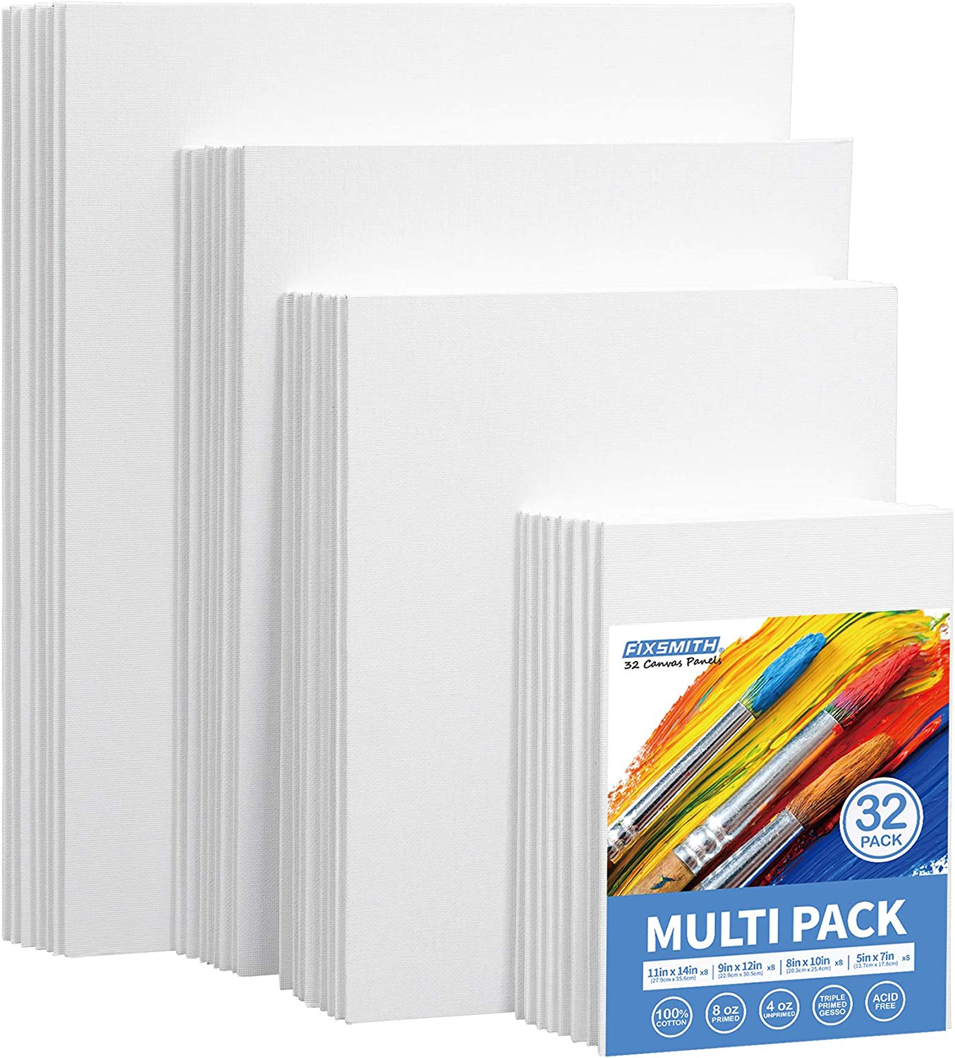 11x14 Inch//9 Pack Artist Painting Canvas Boards Value Pack for Oil /& Acrylic Painting Canvas Panels 100/% Cotton