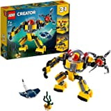 LEGO 31090 Creator 3-in-1 Underwater Robot Building Kit, Colourful