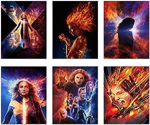 X-Men Dark Phoenix Posters 2019 - Set of 6 (11 inches x 14 inches) Xmen Movie Prints - Sophie Turner as Jean Grey