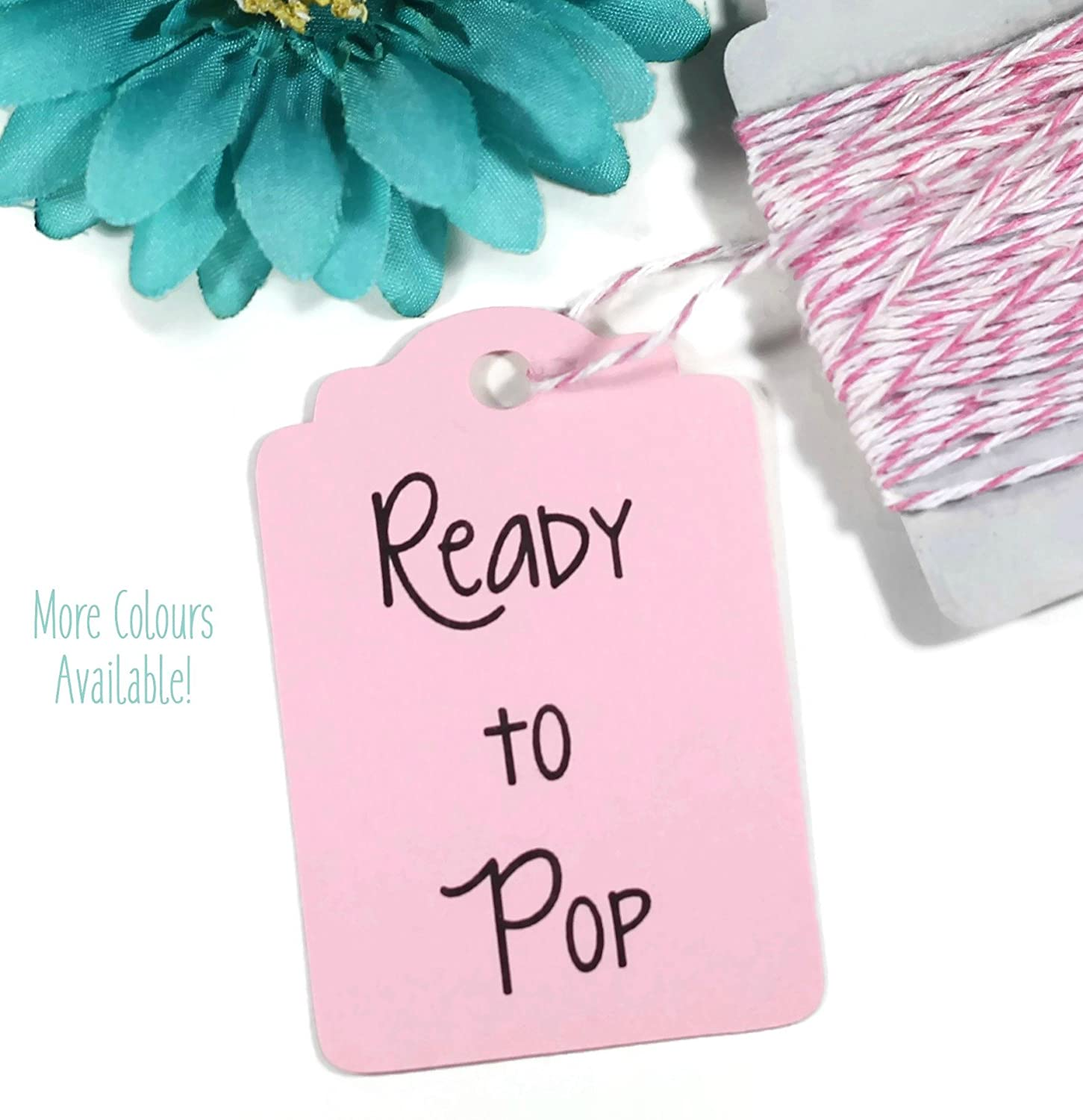 Amazon.com: Light Pink Ready to Pop Baby Shower Tags (Set of 20 ...
