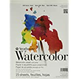"""Strathmore (25-109 STR-025-109 15 Sheet Cold Press Watercolor Pad, 9 by 12"""", 9""""x12"""""""