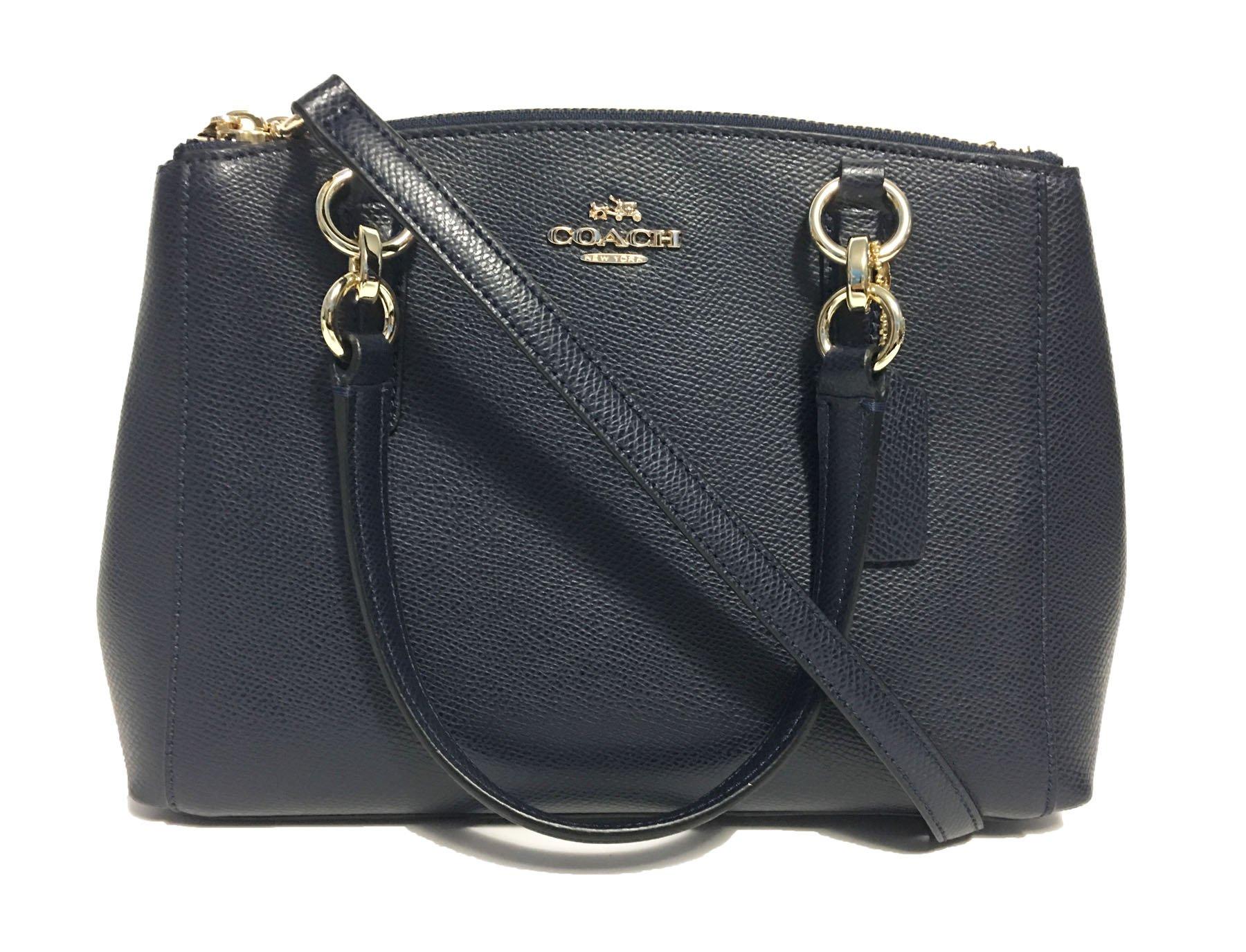 Coach Mini Christie Carryall in Crossgrain Leather in Midnight Blue