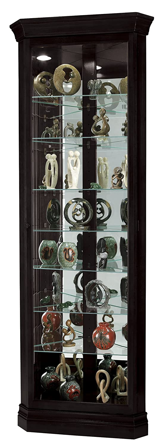 Amazon.com: Howard Miller 680-487 Duane Curio Cabinet by: Kitchen ...
