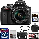 Nikon D3400 Digital SLR Camera & 18-55mm VR DX AF-P Zoom Lens (Black) with 32GB Card + Case + Filter Kit (Certified Refurbished)