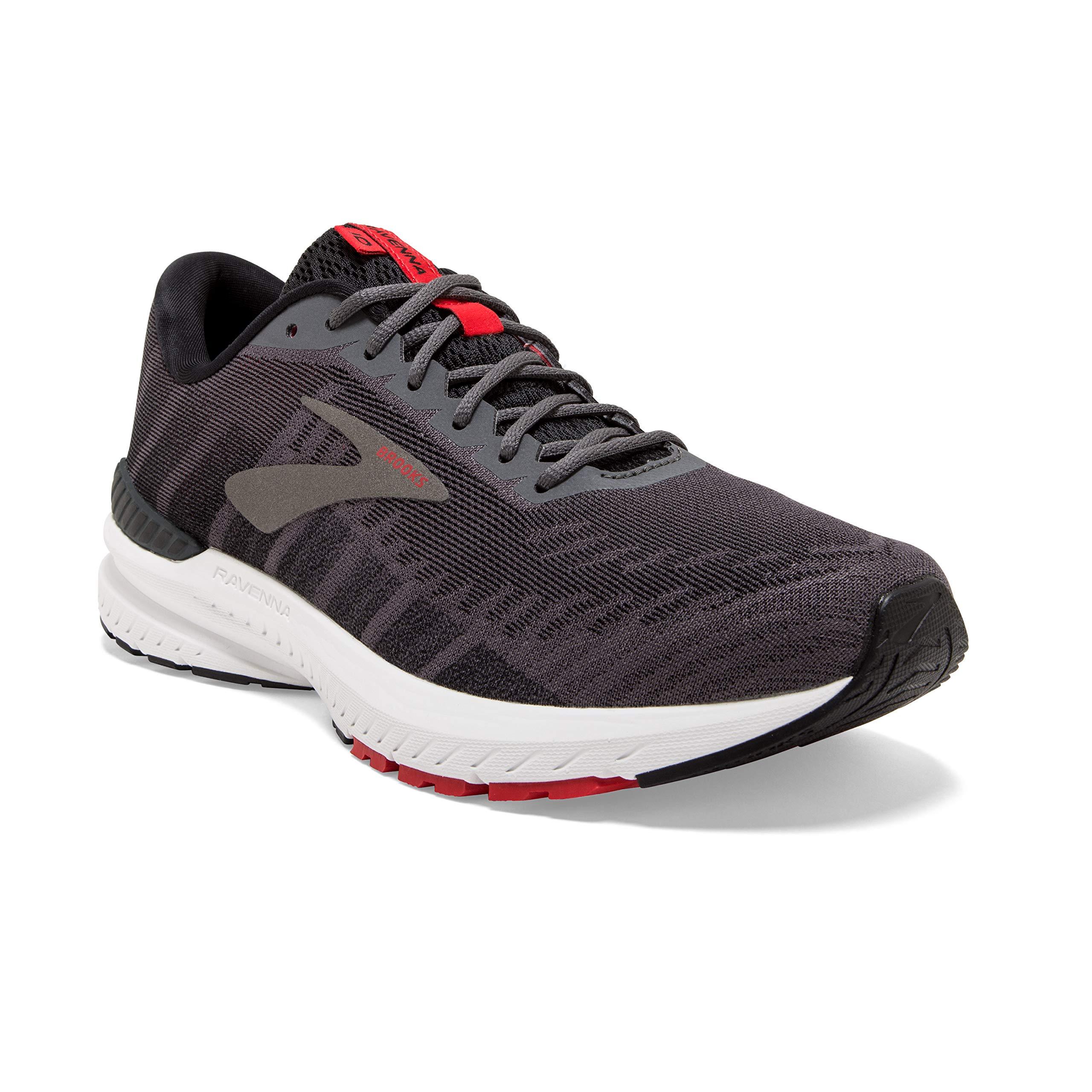 Brooks Mens Ravenna 10 Running Shoe - Ebony/Black/Red - D - 11.0 by Brooks