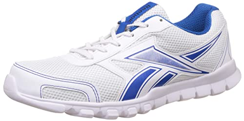 0353b855885805 Image Unavailable. Image not available for. Colour  Reebok Men s Transit  Runner 2.0 White and Blue Sport Running Shoes ...