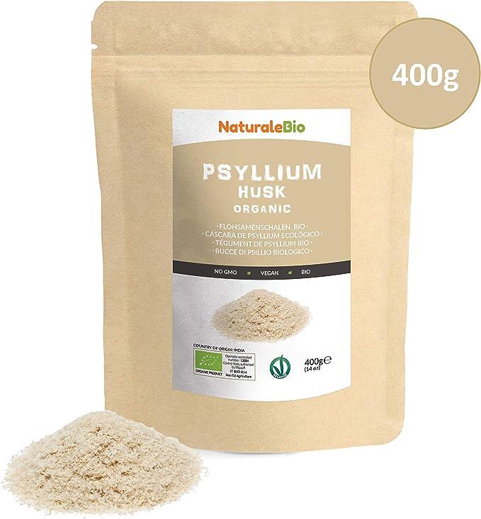 Cáscara de Psyllium Ecológico [99% Pureza] 400g. Psyllium Husk ...