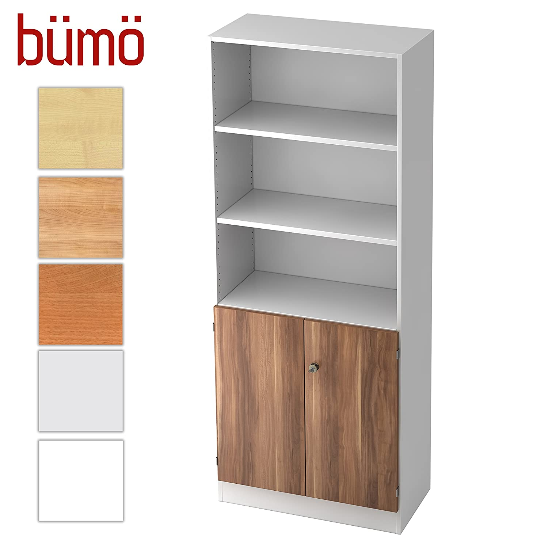 Bumo Office Wood Zwetschge Weiss Aktenregal Schrank Kombi
