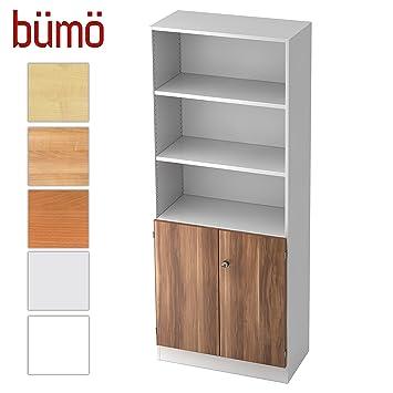 Büroschrank aus holz  Bümö® Office Aktenschrank-Regal Schrank abschließbar aus Holz ...