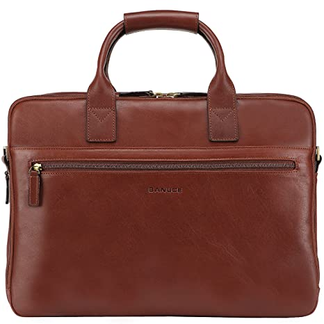 71007bd5d4c2 Banuce Full Grain Italian Leather Briefcase for Men Business Tote 14