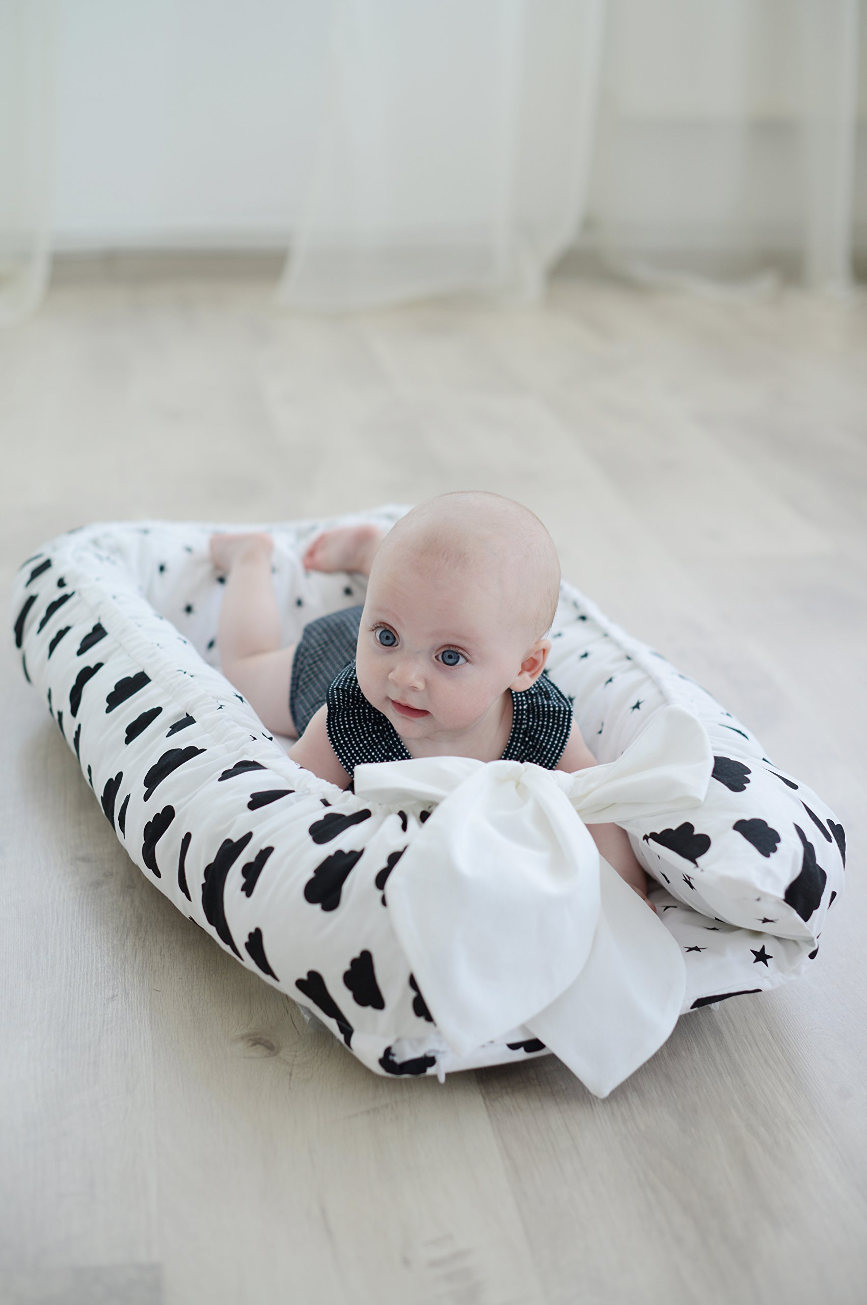 Baby Nest Baby Bed White Cotton Portable Crib Baby Gift Nursery