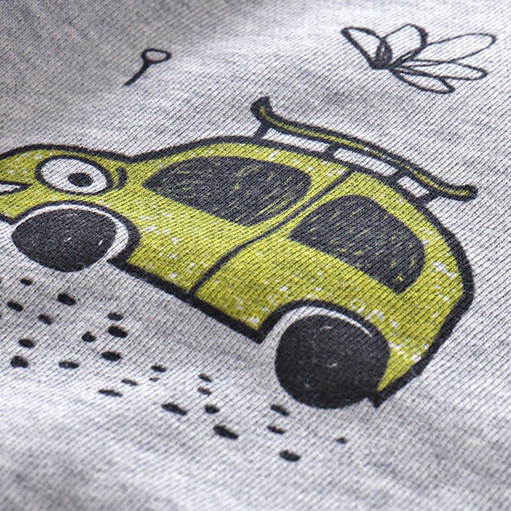 NWAD Boys Car Sweatshirts Light Weight Little Boy Clothes Organic Cotton Crewneck Clothing Long Sleeve Tops (Car Grey, M(5)) by NWAD (Image #5)