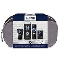 4-Pcs Nivea Men Clean Deep Skin Care Collection for Men