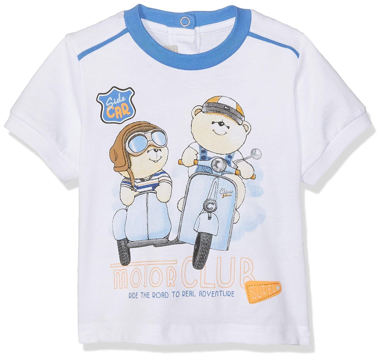 68 Talla del Fabricante: 068 Blanco para Beb/és Chicco T-Shirt Manica Corta Camiseta de Tirantes Bianco 033