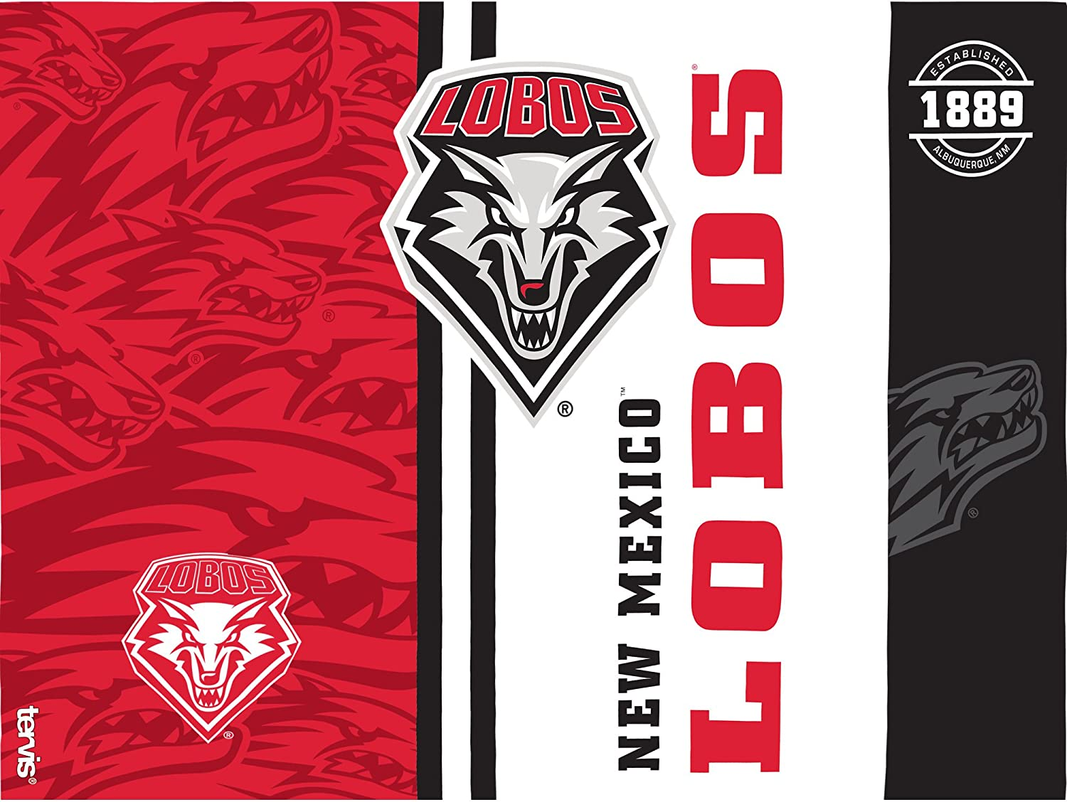 Tervis 1229526 New Mexico Lobos College Pride Tumbler with Wrap and Red Lid 24oz Clear